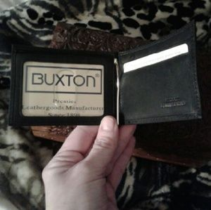 Buxton Other - NWT & BOX Genuine Leather Buxton Money Clip Wallet