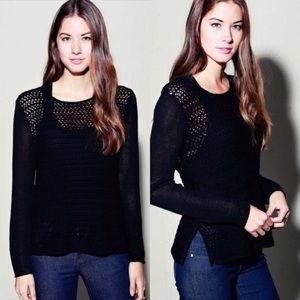 April Spirit Sweaters - APRIL SPIRIT KNITTED BLACK SWEATER