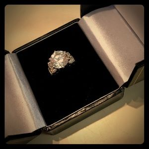 Jewelry - 4.66 TCW Round Cubic Zirc Ring in 10k White Gold