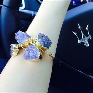 Krystle Jewelry Jewelry - Gold Amethyst Geode Bracelet
