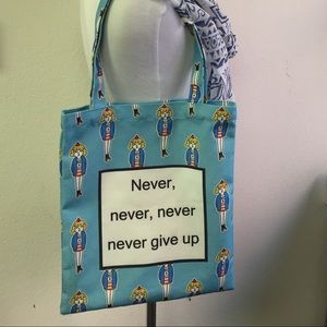 Handbags - Never never give up tote bag