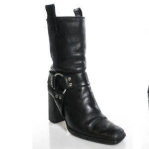 MICHAEL KORS BLACK leather BOOTS SZ 5.5