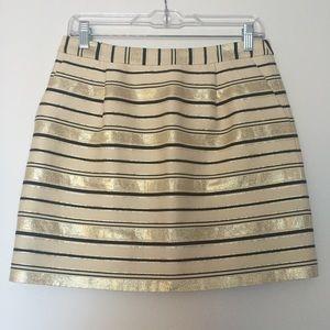 Jcrew Stripe Mini Skirt