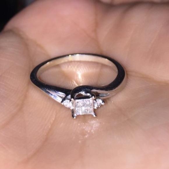 Kay Jewelers Jewelry Sale 10k Diamond White Gold Ring Poshmark