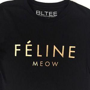 """Brian Lichtenberg Tops - Brian Lichtenberg """"Feline"""" t-shirt"""