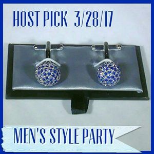 Other - 🛍Bundle for Prom 🎉🤴🏼Blue & Silver Cuff Links