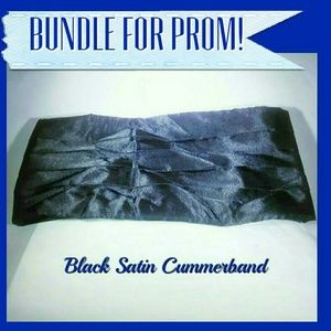 Other - 🛍Bundle for Prom!!!🎉🎩Satin Tuxedo Cummerbund