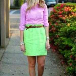 J CREW Linen Mini Skirt