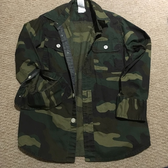 0a13c552f8c24 J. Crew Factory Shirts & Tops | Hp 930 Crew Cuts Boys 45 Camo Button ...
