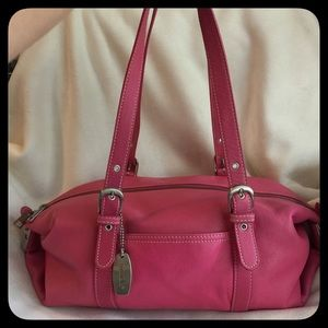 Tignanello Handbags - Tignanello Pink Leather Handbag
