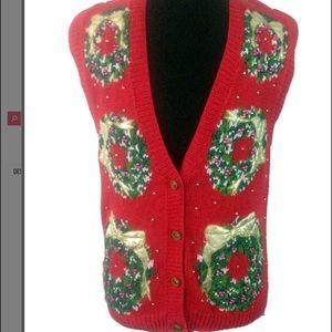 Ships Immediately! Vintage knit sweater vest #16