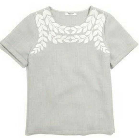 93b369b6cdaf1 Madewell Tops - RARE Madewell Ivy Embroidered Tee EUC