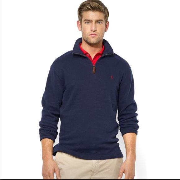 53ba8a67 Polo Ralph Lauren French-Rib Half-Zip Sweater Navy