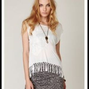 Free people tee fearless fringe