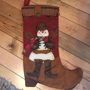 Other - Snowman cowboy stocking