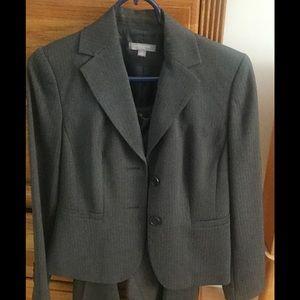 Ann Taylor Other - Ann Taylor Petite Grey Pinstripe Pant Suit-2P/4P