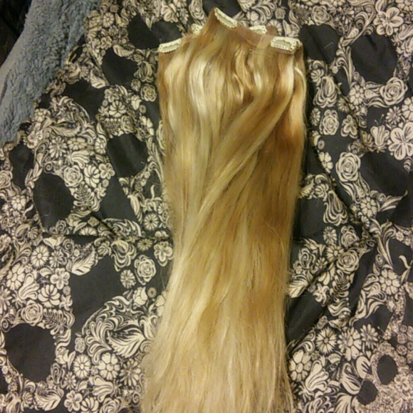 Foxy Locks Other Latte Blonde Clip In Hair Extensions Poshmark