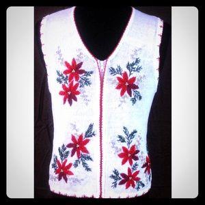Ships Immediately! White Christmas Sweater Vest