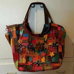 APC Handbags - Beautiful APC leather patchwork handbag