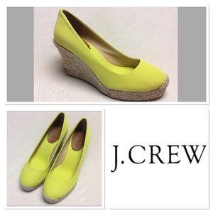 6 J CREW yellow wedges