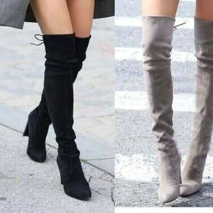 Shoes - Over the knee High suede boots!