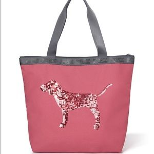 PINK Victoria's Secret Handbags - Victoria's Secret PINK Soft Begonia Tote