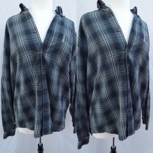Green Flannel Button Up Shirt