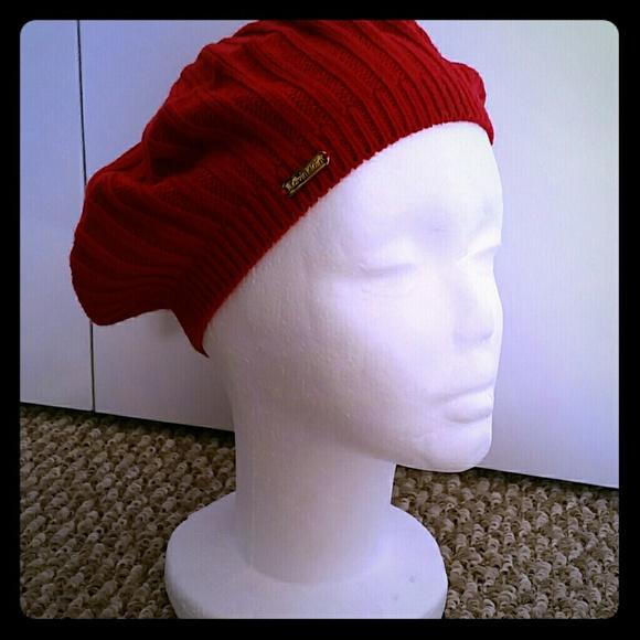 e54f85fef75 Calvin Klein women s beret red color