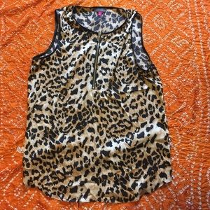 Vince Camuto Animal Print Sleeveless Blouse
