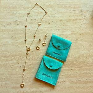 Tiffany & Co Heart Lariat necklace/earrings