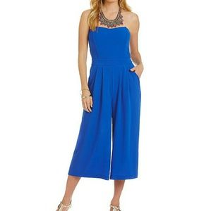GB Pants - GB Blue Strapless Midi Jumpsuit/Playsuit