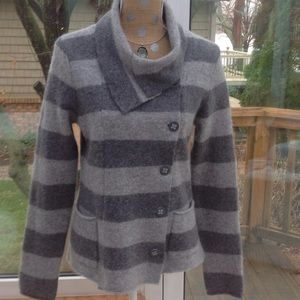 Horny Toad Sweaters - Gray Wool Jacket