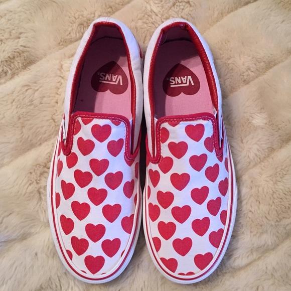 Van s Big Heart slip on canvas sneakers. M 5837433d5c12f8cc8f002841 d3a7cc0f35