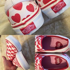 704a146df323 Vans Shoes - Van s Big Heart slip on canvas sneakers