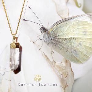 Krystle Jewelry Jewelry - Gold Crystal Quartz Necklace