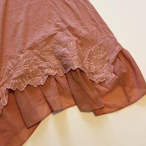 LOGO Tops - NWOT lace hem tunic