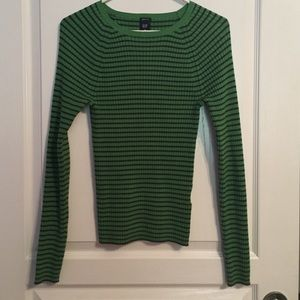 GAP Sweaters - Green and Navy GAP Stretch Sweater