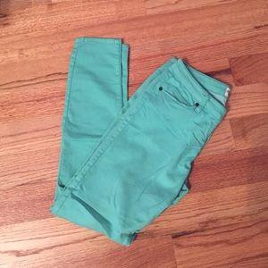 Scarlet Boulevard Teal Skinny Pants