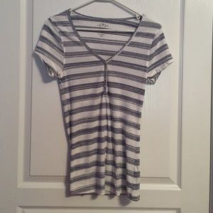 Old Navy Tops - Navy and White Stripe Old Navy Shirt