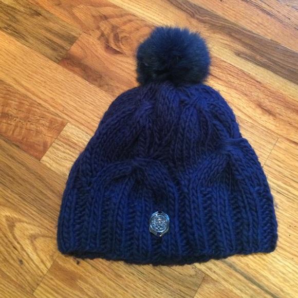 d58b53c354088 Vince Camuto Royal Blue Winter Hat with Pom. M 58374d1c7fab3a48bd00498f
