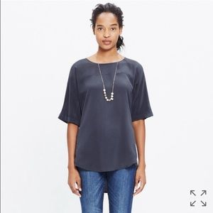 Madewell Tops - madewell silk overlook tunic in RED