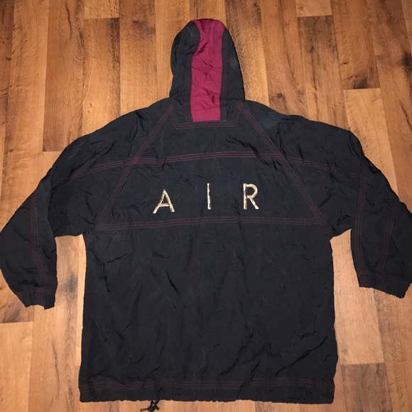 nike vintage small nike air windbreaker jacket black. Black Bedroom Furniture Sets. Home Design Ideas