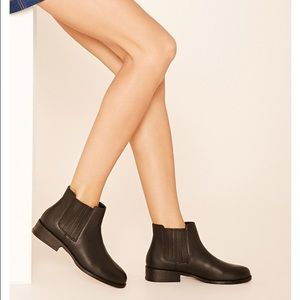 Forever 21 Shoes - Faux Leather Chelsea Boots