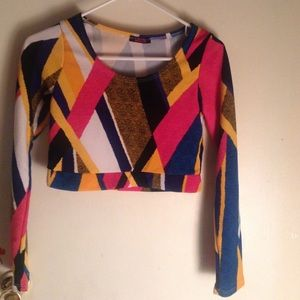 Blush Tops - Crop top long sleeve