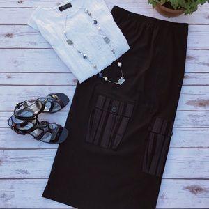 Vincenzo Allocca Dresses & Skirts - Upscale Black Vincenzo Allocca Lagenlook Skirt
