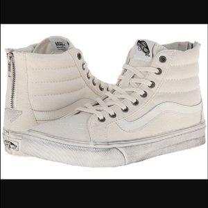 8c0e4ede8c Vans Shoes - VANS SK8 Hi Slim Zip (Overwashed) Blanc Slim Sz 10