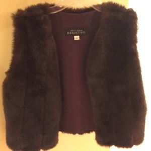 Fabulous Furs Jackets & Blazers - Faux fur vest in chocolate brown in size small.