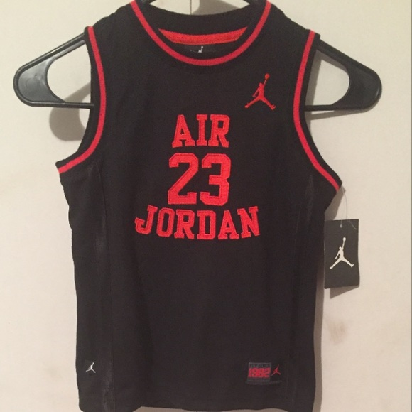 newest a41fc a35c7 Red and Black Jordan Jersey NWT