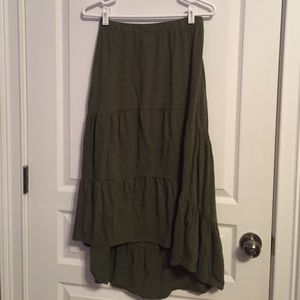 Olive Old Navy Maxi Skirt