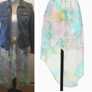 Tulle Dresses & Skirts - Tulle Paint by Number Floral High Low Skirt Size M
